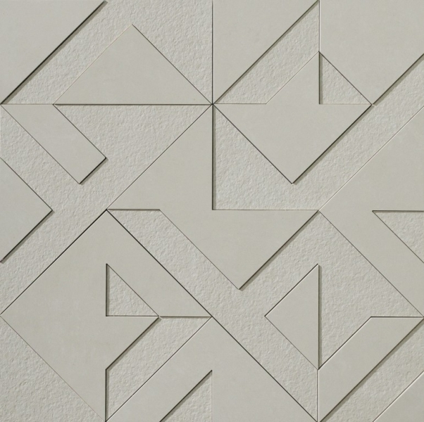 Time Geometric Silver Tiles For Architects