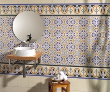 Bathroom cement tiles