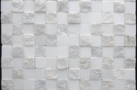 Marble white mosaic