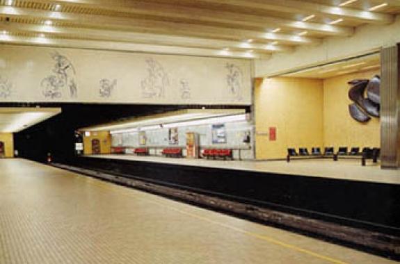 Botanique metro station - Brussels